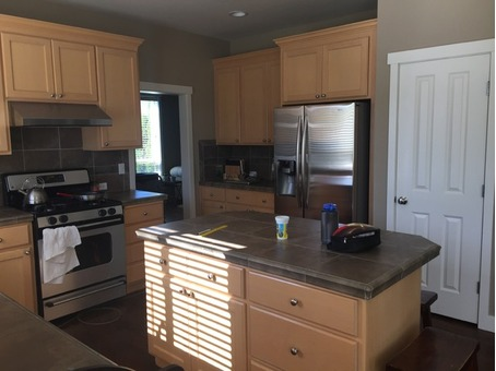 Entire Kitchen Cabintes and Island