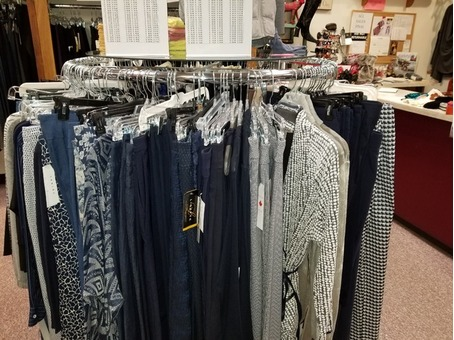 Store clothing racks